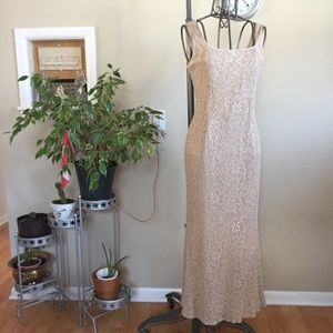 Vintage Betsy and Adam gold lace dress